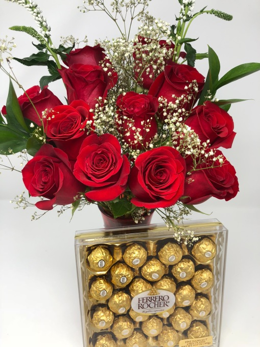 Valentina with Chocolates - $69.99